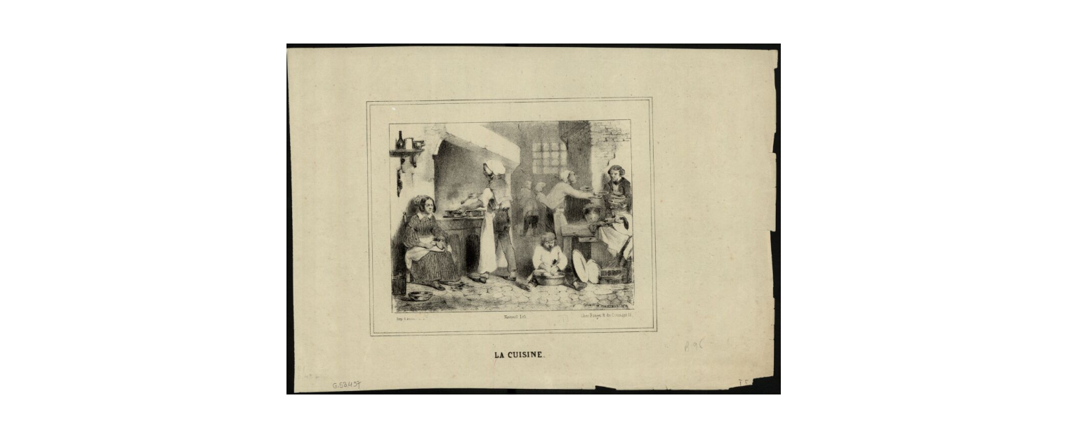 w kuchni 1838 rok litografia