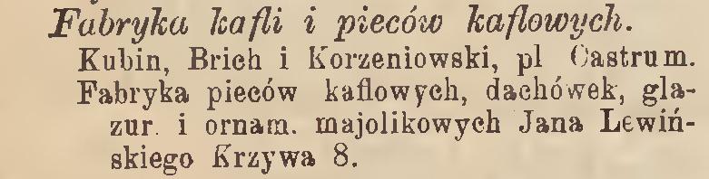 przewodnik adresowy krajowy, gazeta informacyjna 15 list 1891