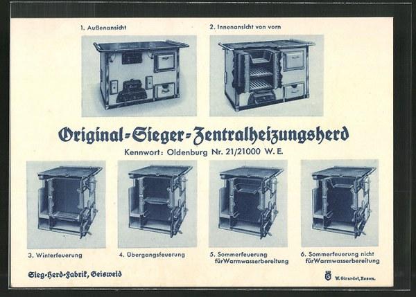 AK-Reklame-fuer-den-Original-Sieger-Zentralheizungsherd-Aussen-und-Innenansicht-Winter-und-Sommerfeuerung_600x429