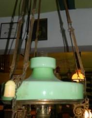Lampa elektryczna nr 6 ( zielony klosz )_239x600