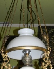Lampa elektryczna nr 9 (klosz Biały )_241x600